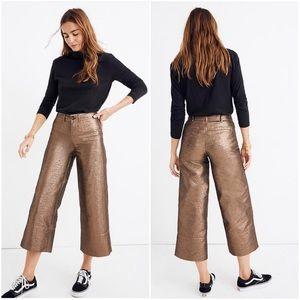 NWT Madewell High Rise Emmett Wide Leg Crop Pants